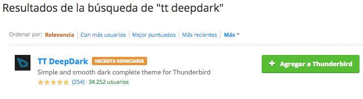 instalar tema thunderbird